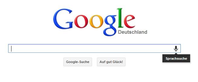 google.de sprachsuche