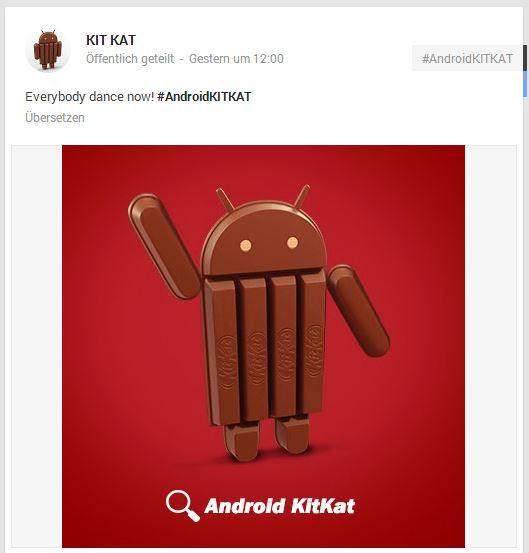 kitkat g+ post