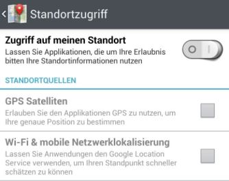 android standort screenshot