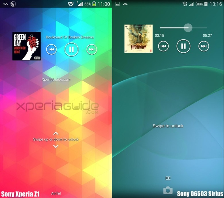 Sony-D6503-KitKat-UI-Walkman-Lock-Screen-Screenshot