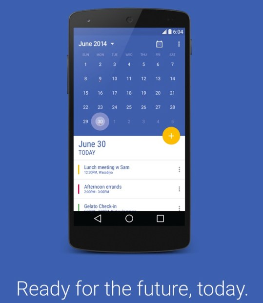 Today Calender Material Design