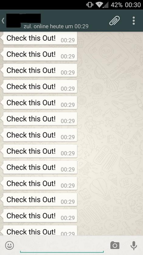 Spam Nachrichten Whatsapp
