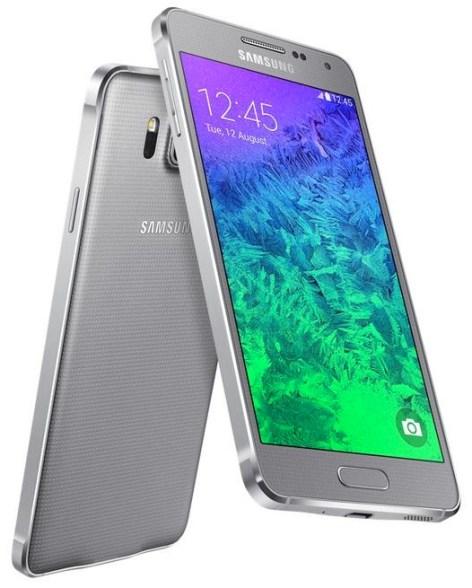 Samsung Galaxy Alpha silber