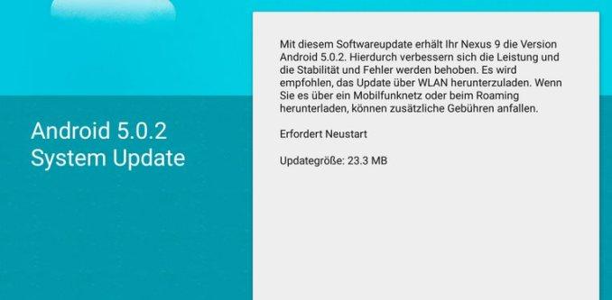 nexus 9 android 5.0.2