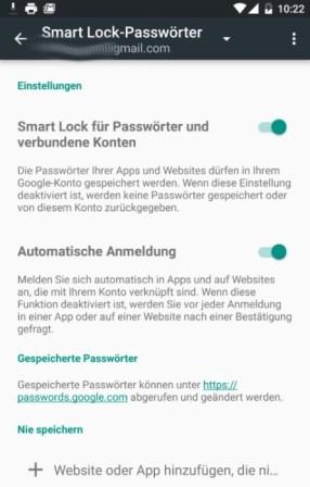 smart lock passwortmanager