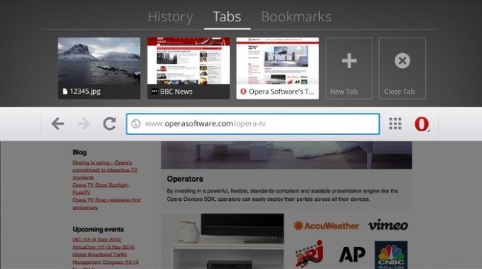 opera tv browser