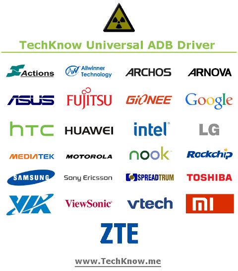 ADB-Treiber für über 700 Geräte in einem Paket