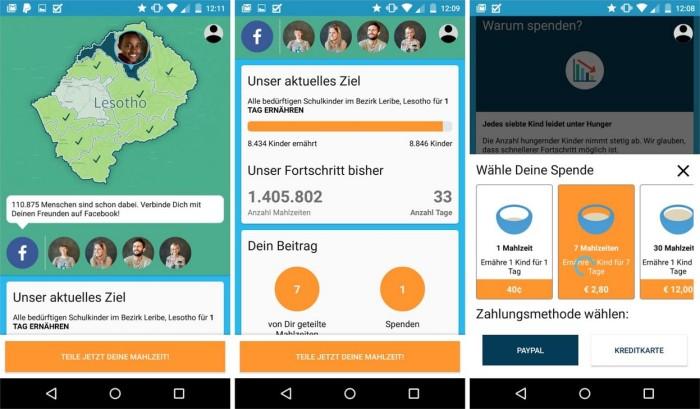sharethemeal android app