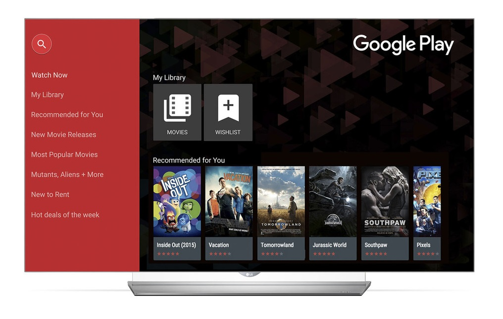 LG Google Play Movies