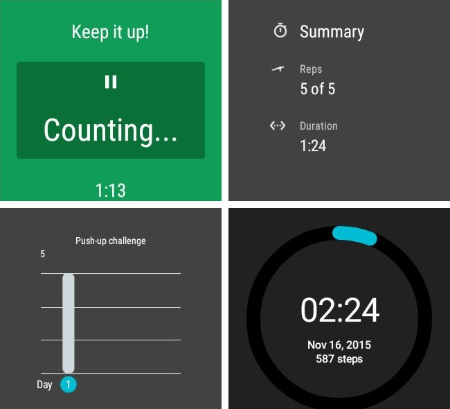 android wear fit challenge mode