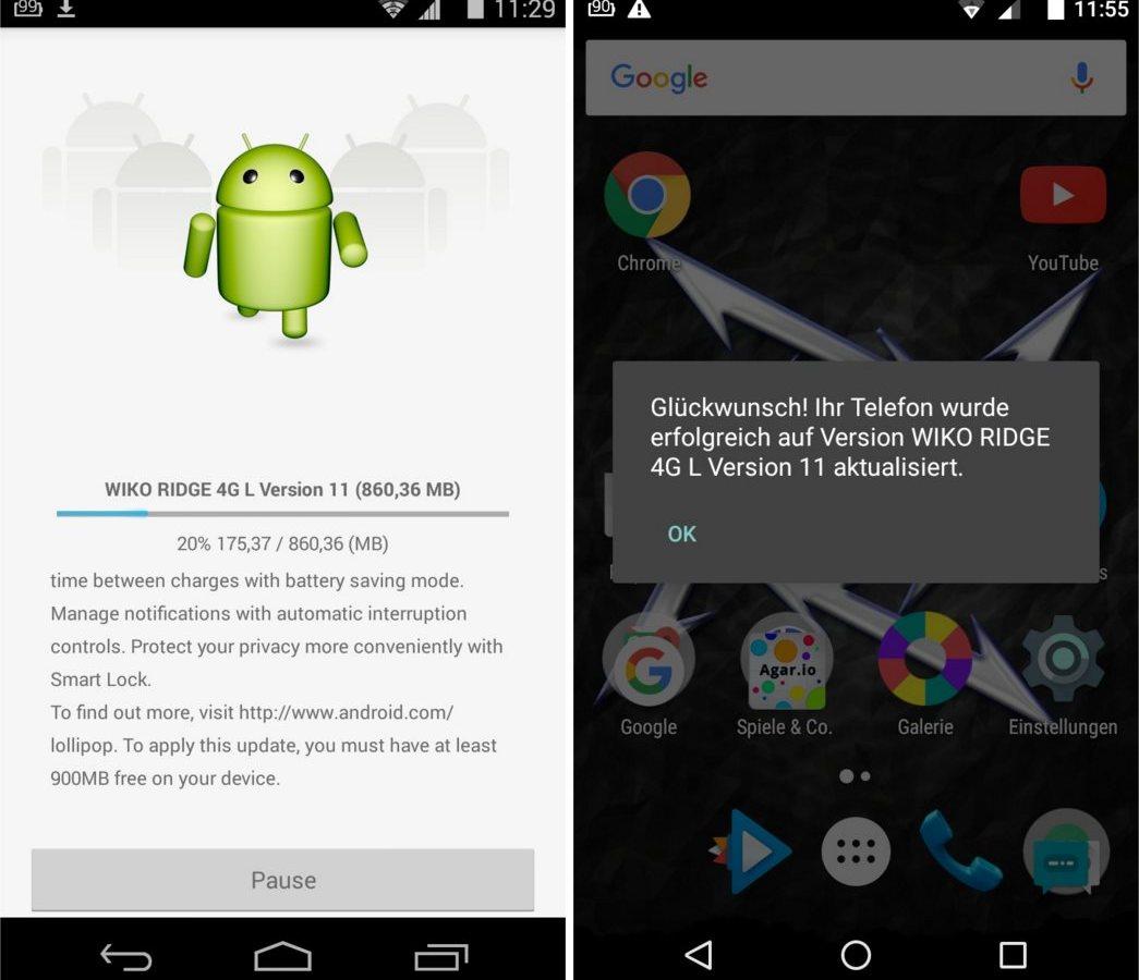 wiko ridge android 5.0