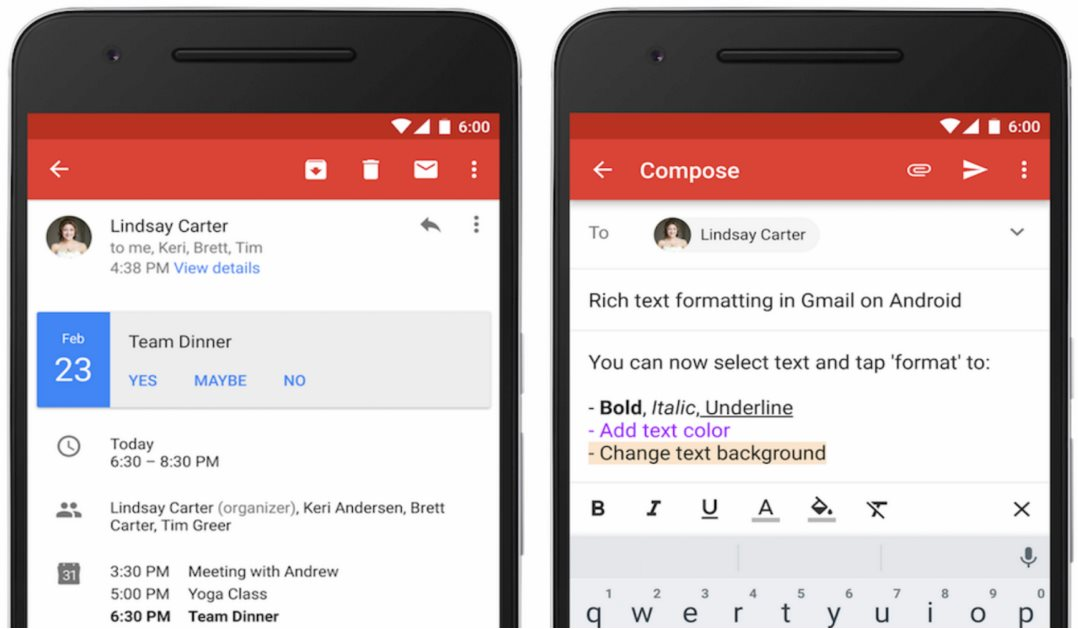 Gmail Update Februar 2016