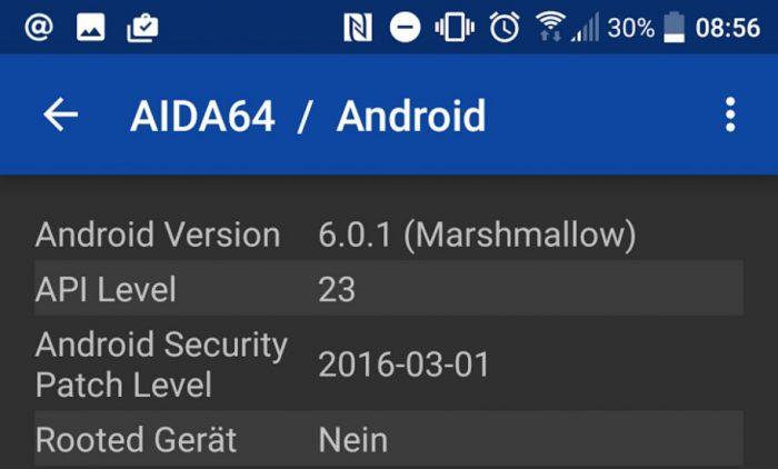 AIDA64 Android-Sicherheitspatch-Ebene