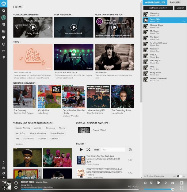ALDI Life Musik Napster
