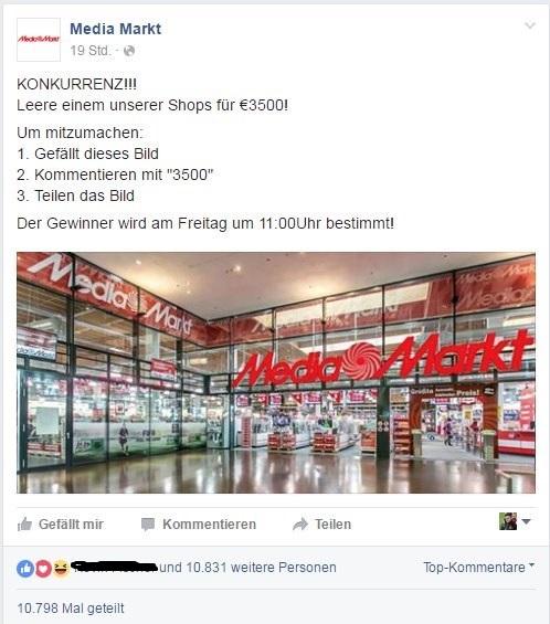 Facebook Gewinnspiel Fake