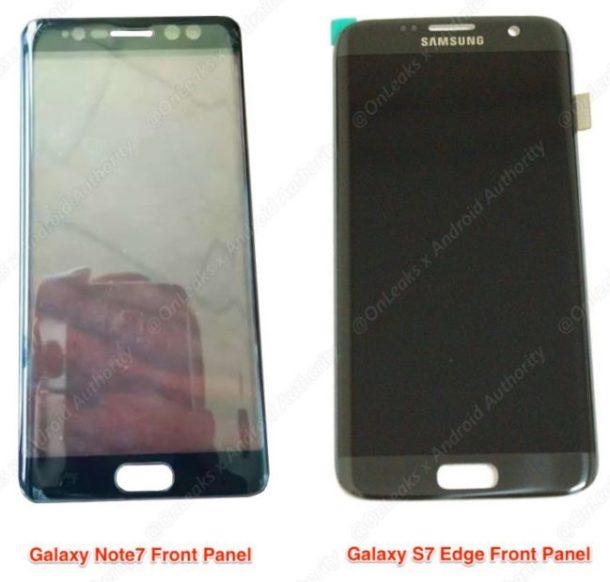 Galaxy Note 7 Frontseite leak 2