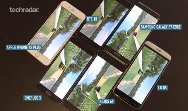 Gaming vs. Akku im Vergleich: Galaxy S7, OnePlus 3, Nexus 6P, HTC 10, LG G5