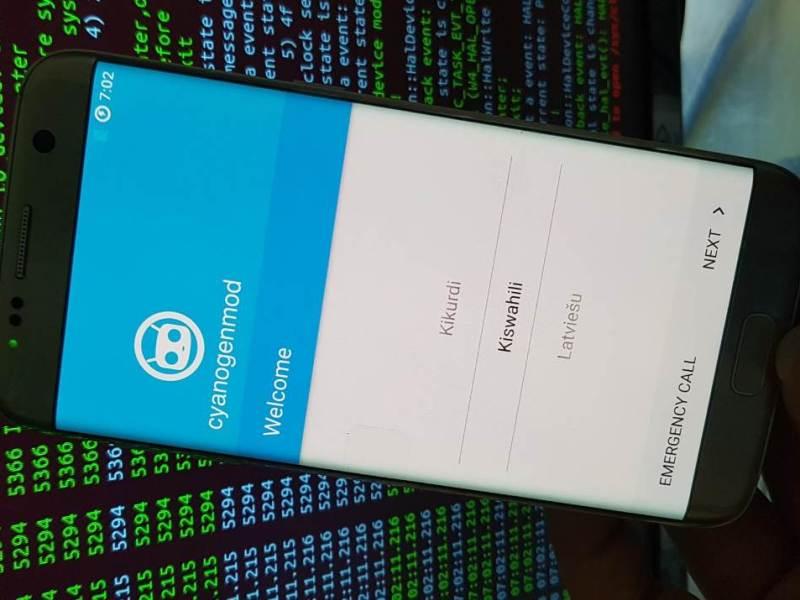 CyanogenMod 13 Boot Galaxy S7 edge
