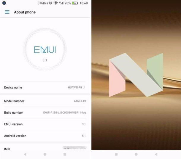 Huawei P9 Android 7 Beta Screenshot