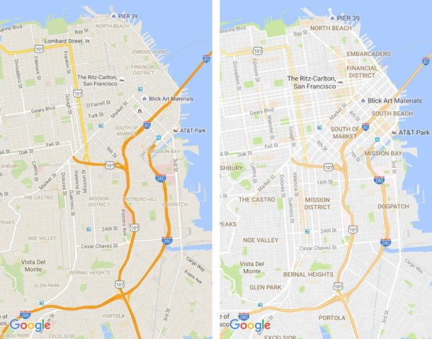 Google Maps Kartendesign Update Juli 2016 (1)