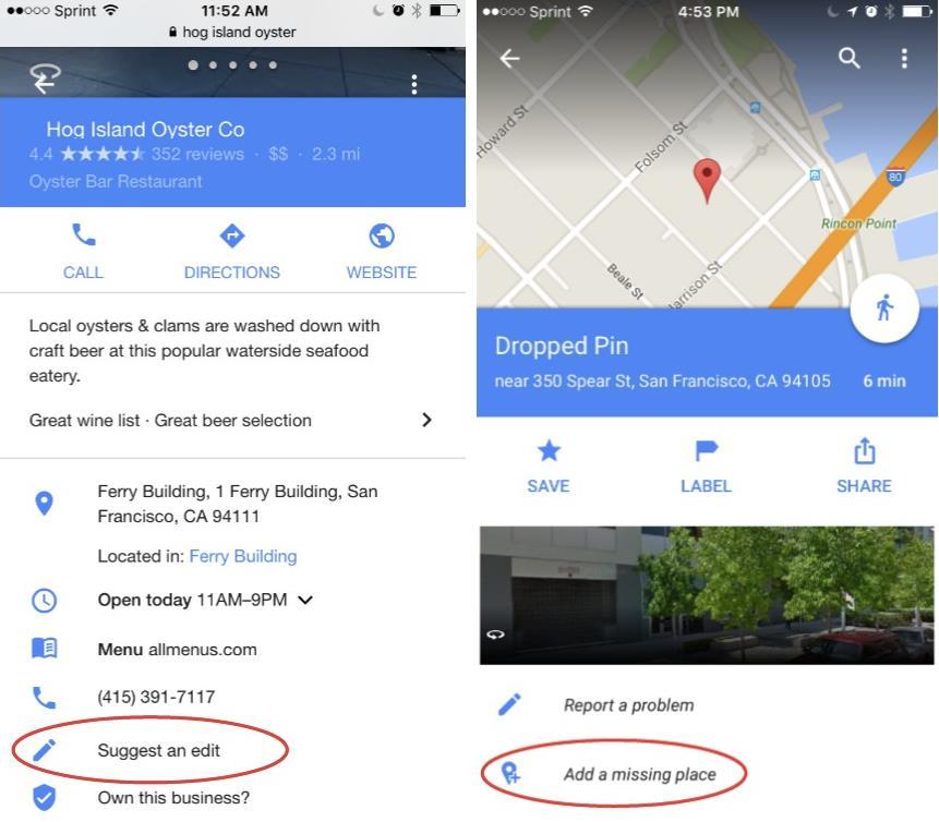 Google Maps: Nutzer können Orte bearbeiten und hinzufügen