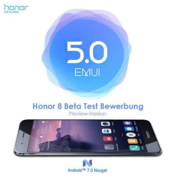 Honor 8 Nougat Beta