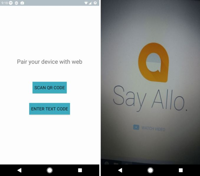Google Allo Desktop Leak