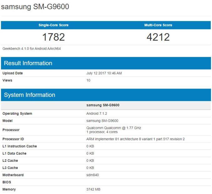 Samsung SM-G9500 Geekbench