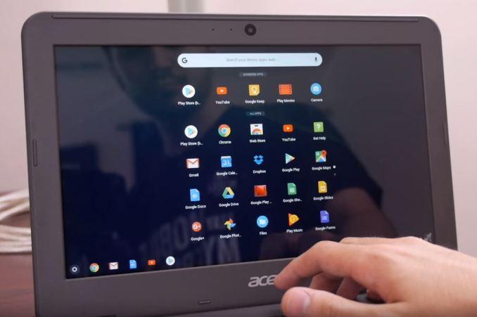 Chrome OS Peeking Launcher