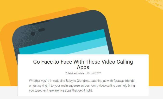Google Play Empfehlungen Videocall-Apps