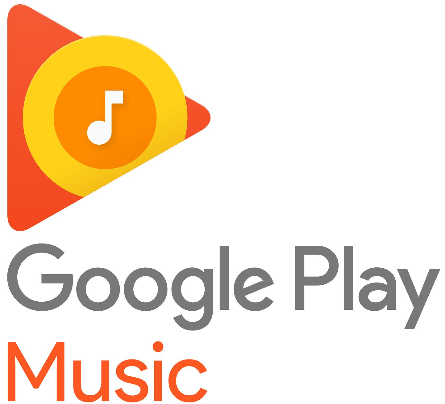 Google Play Music Musik Logo Header