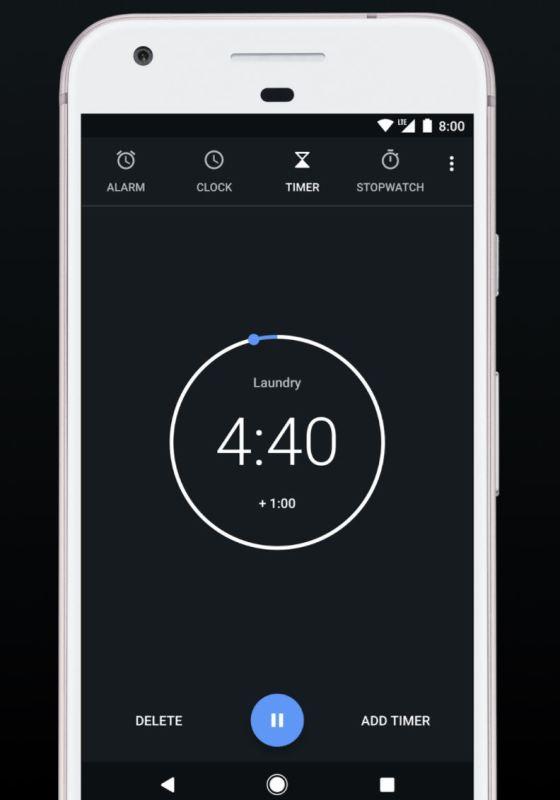 Google Uhr Design-Update Juli 2017