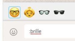 WhatsApp Web Emoji Suche