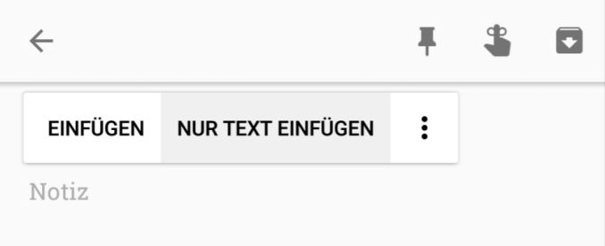 Android 8 Text ohne Formatierung