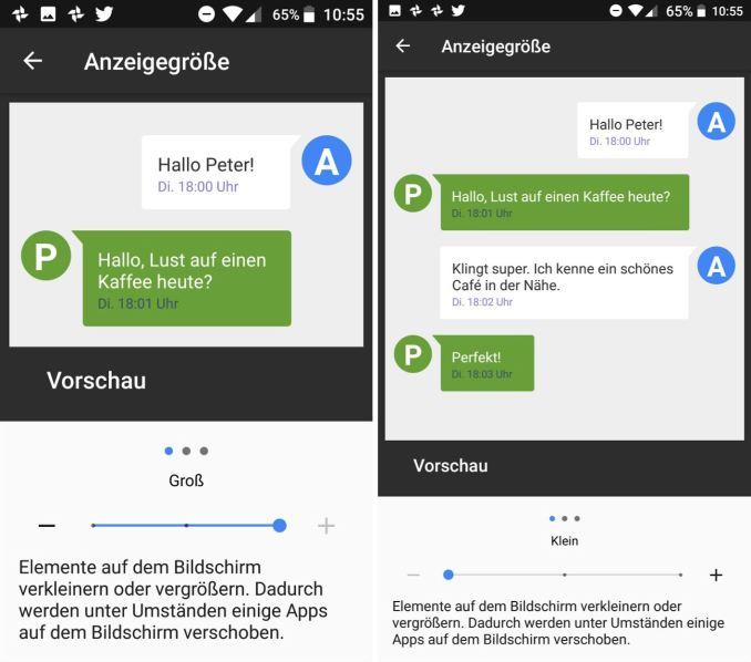 Android Anzeigegröße