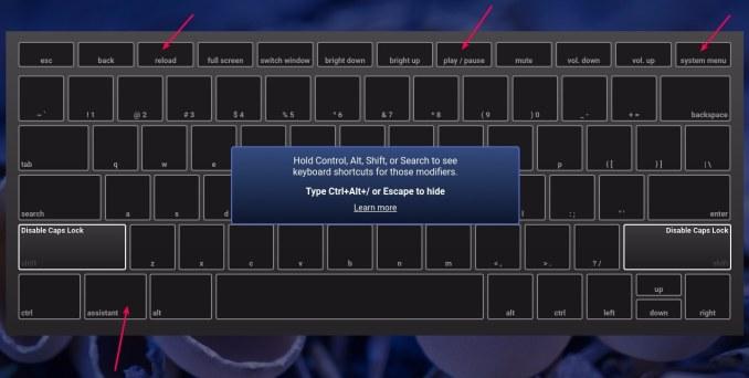 Chrome OS neue Tastatur 2017