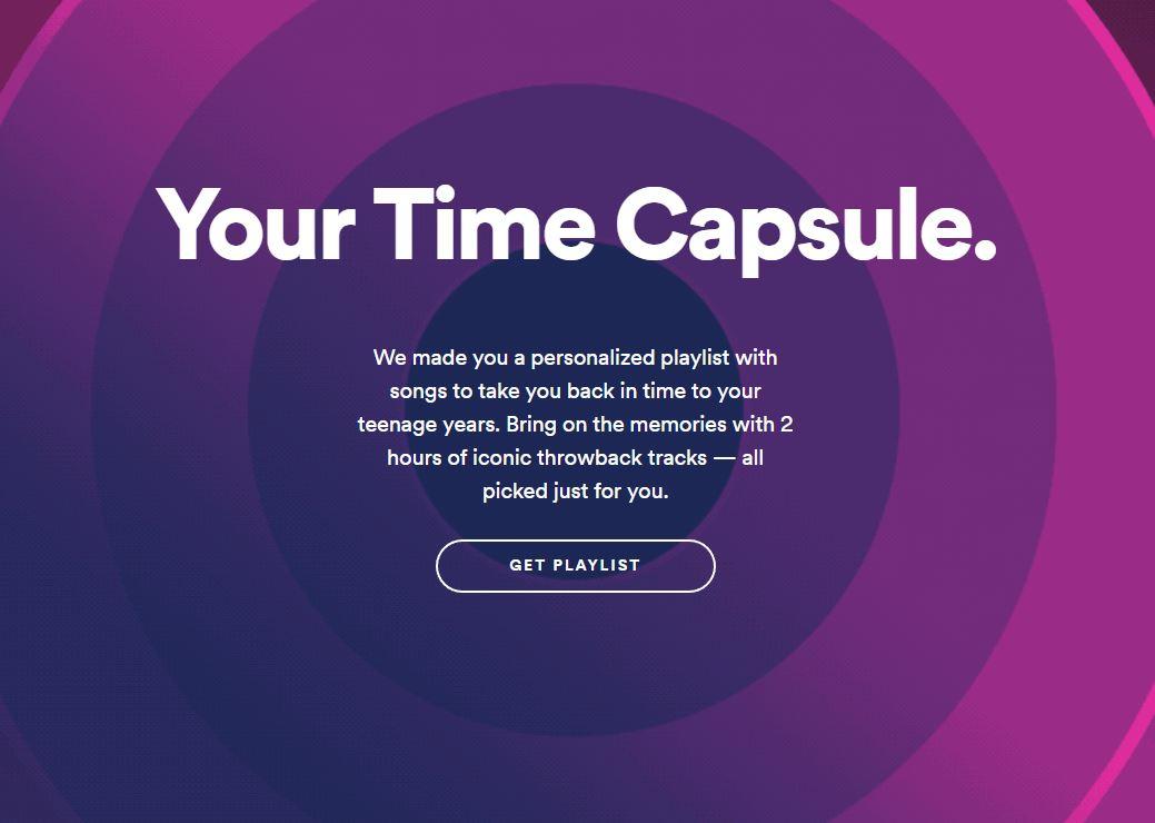 Zeitkapsel Spotify