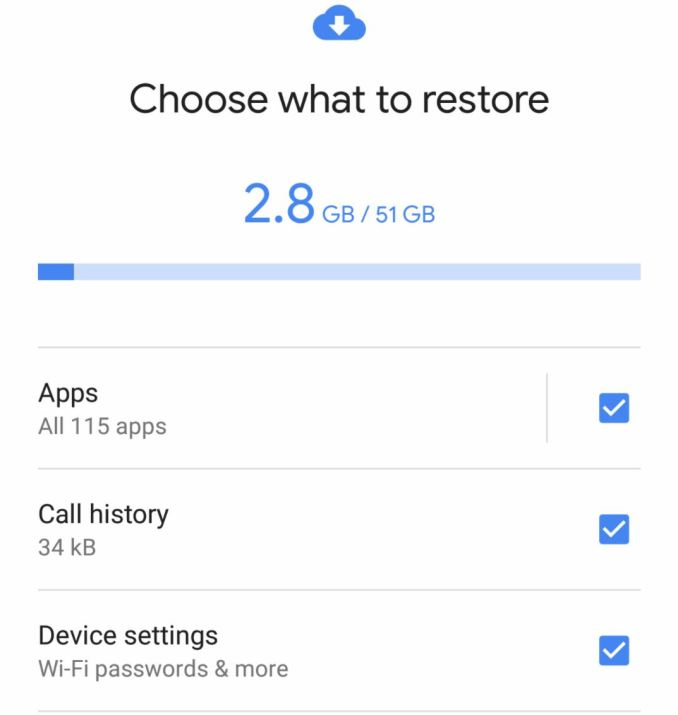 Android 8.1 Restore