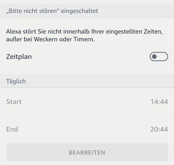 Amazon Alexa bitte nicht stören