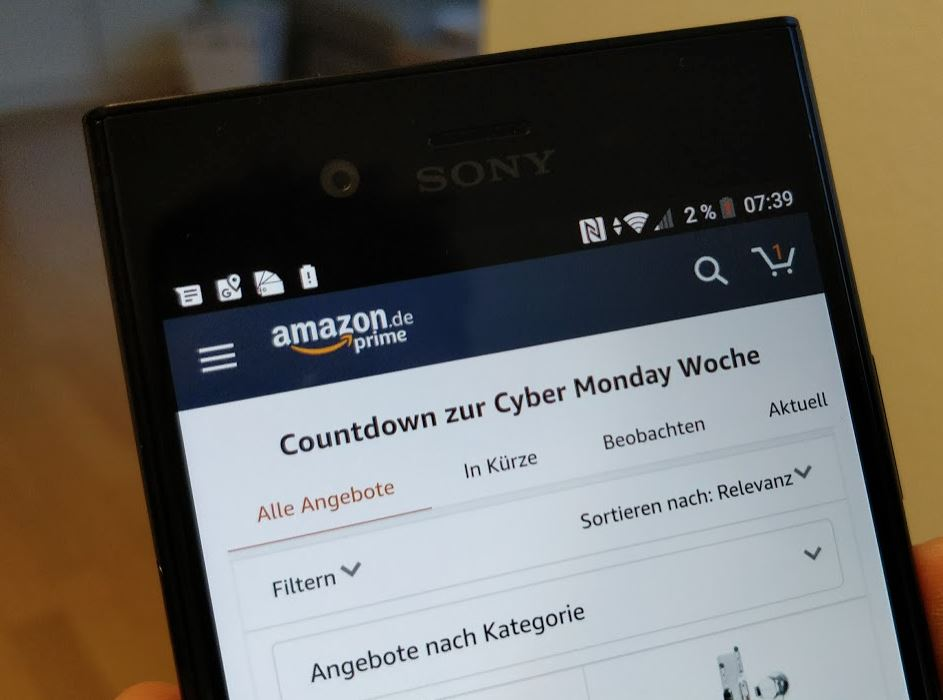 Cyber Monday Woche Amazon 2017 Header