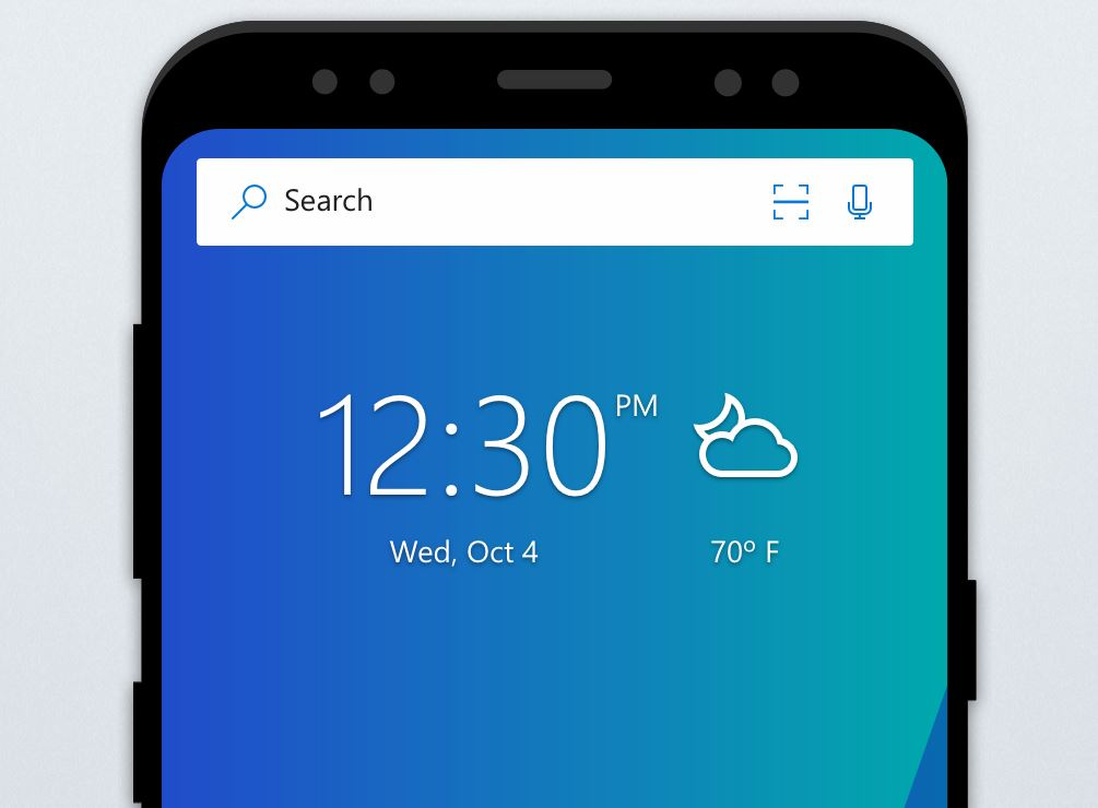Microsoft Launcher Header