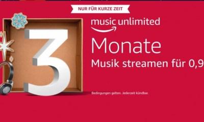 Amazon Music Unlimited 3 Monate 99 Cent Weihnachten