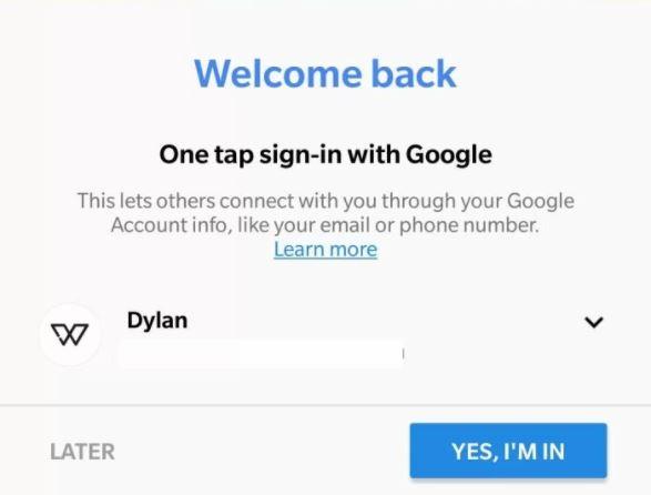 Google Duo Google Account Screenshot