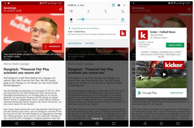 Kicker Instant Android App