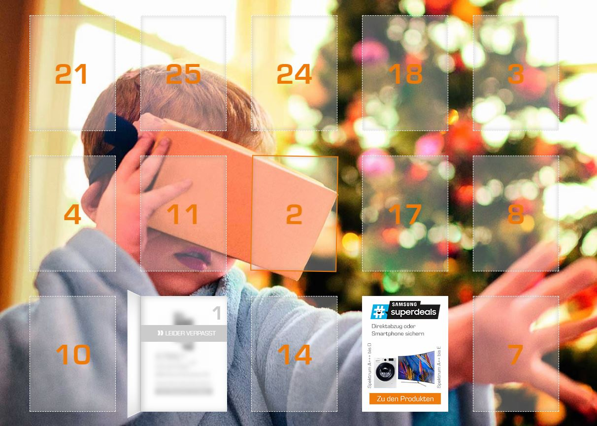 Saturn Adventskalender 2017