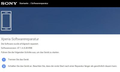 Sony Xperia Software Reparatur Companion