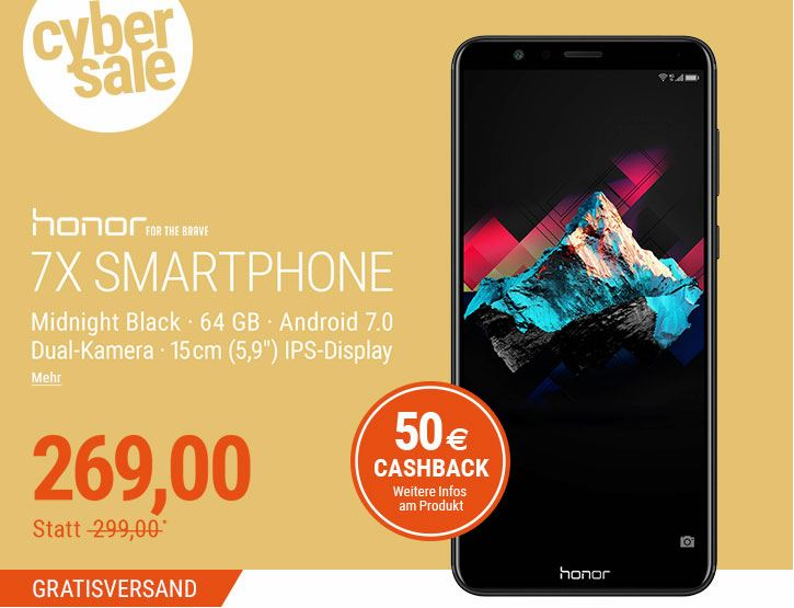 Honor 7X Cyber Sale