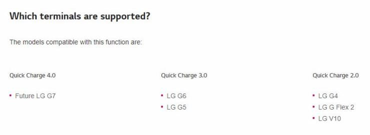 LG G7 Website Leak