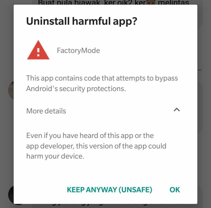 OnePlus FactoryMode Google Play Protect