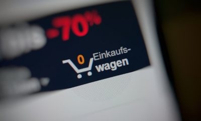 Online Shopping Warenkorb Header